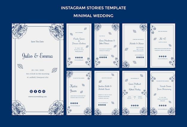 Bruiloft sjabloon voor instagramverhalen Gratis Psd