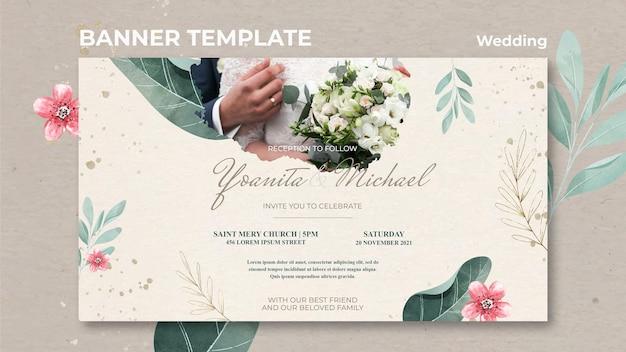 Bruiloft sjabloon voor spandoek