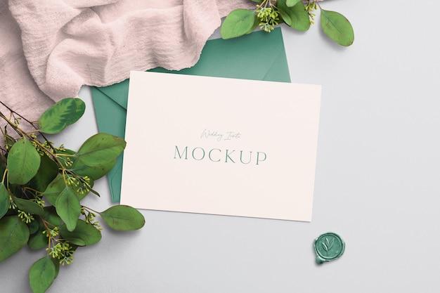 Bruiloft uitnodigen mockup