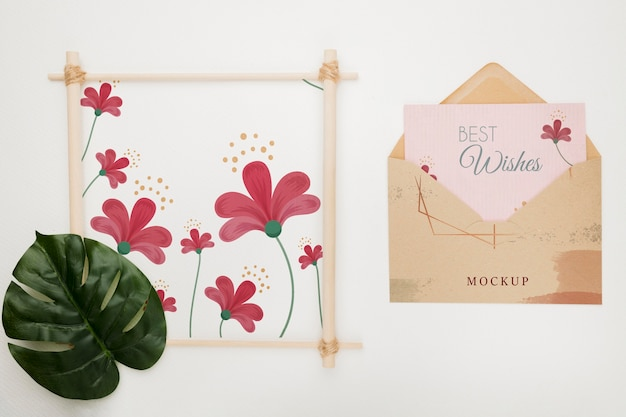 Bruiloft uitnodiging concept mock-up
