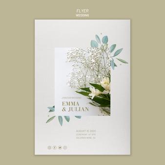 Bruiloft uitnodiging flyer sjabloon