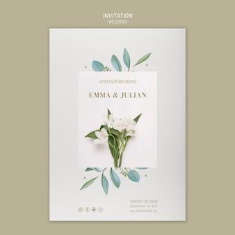 Bruiloft uitnodiging sjabloon met de datum opslaan