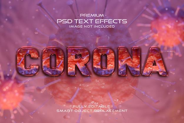 Bruin corona-virus tekststijleffect