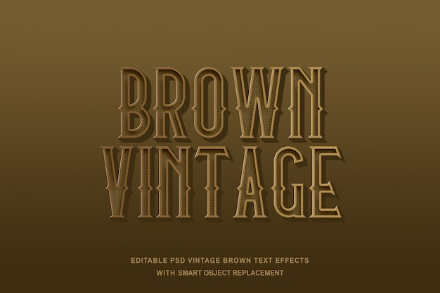 Bruin vintage teksteffect
