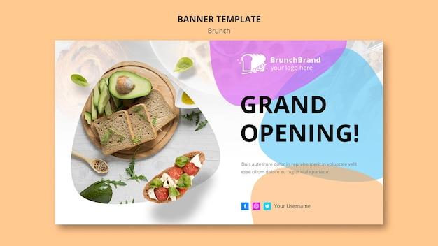 Brunch banner template design