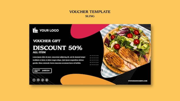 Brunch concept voucher sjabloon