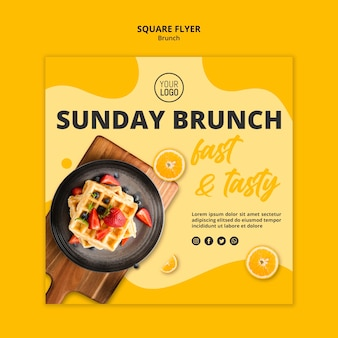 Brunch flyer sjabloon concept