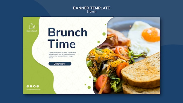 Brunch thema voor banner sjabloon concept