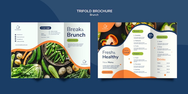 Brunch thema voor brochure sjabloon concept