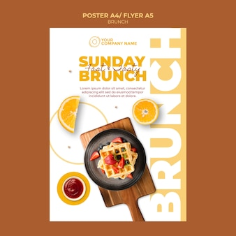 Brunch thema voor poster sjabloon