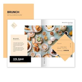 Brunch tweevoudige brochure sjabloon