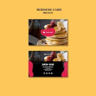 Brunch visitekaartje concept sjabloon
