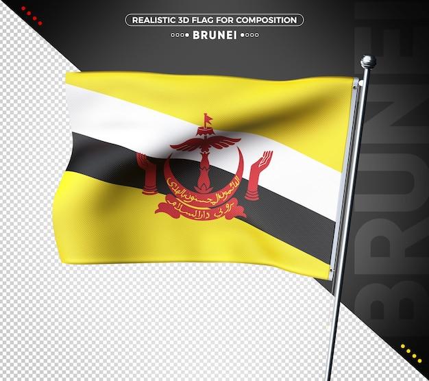 Brunei 3d geweven vlag voor samenstelling
