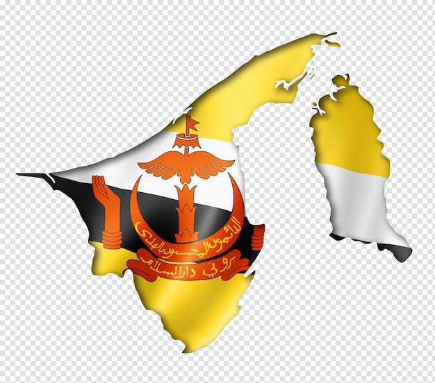 Bruneiaanse vlag kaart