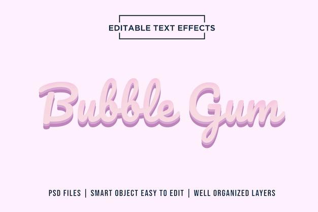 Bubble gum-teksteffecten