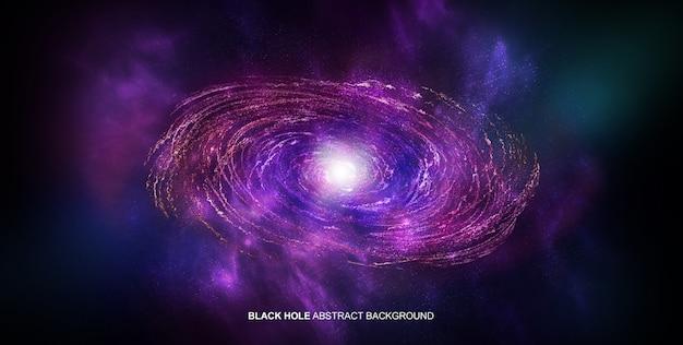 Buco nero sullo sfondo