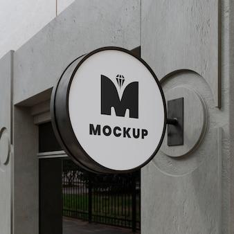 Buiten bedrijf teken mock-up