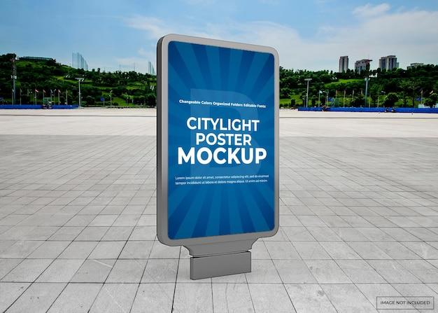 Buiten stadslicht poster mockup