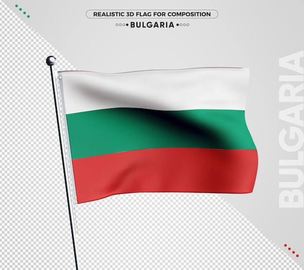 Bulgarije 3d getextureerde vlag voor samenstelling