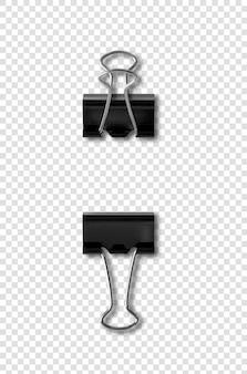 Bulldog clips aislados en blanco