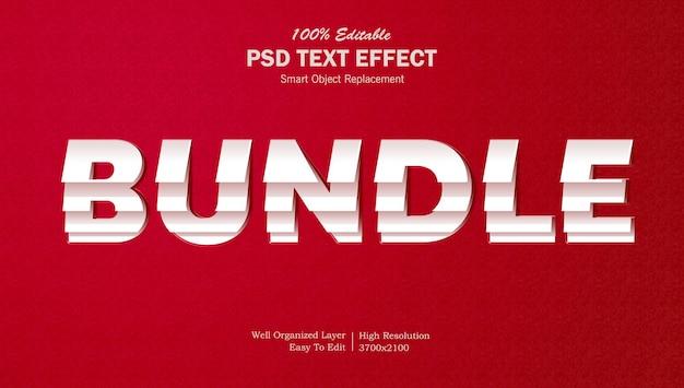 Bundel papier gelaagd teksteffect