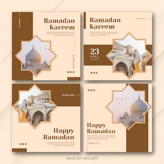 Bundle ramadan kareem template di instagram post