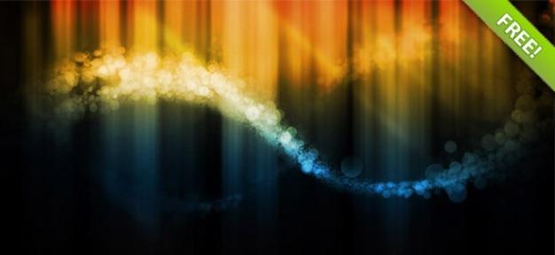 Burbuja de fondo de onda resumen