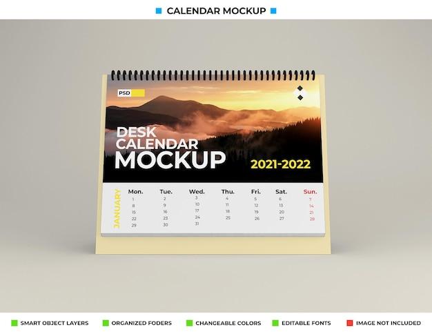 Bureaukalender mockup geïsoleerd
