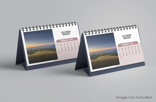 Bureaukalender mockup ontwerp geïsoleerd