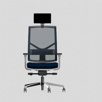 Bureaustoel 3d geïsoleerd render