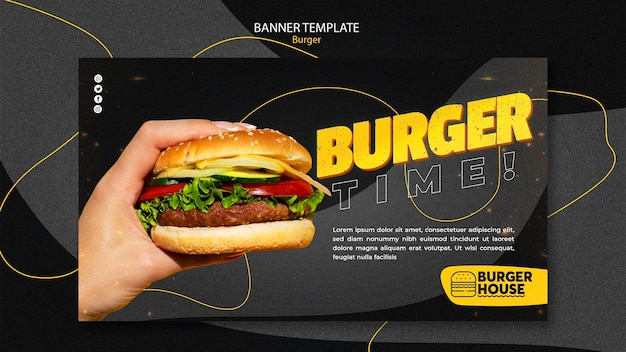 Burger banner sjabloon thema