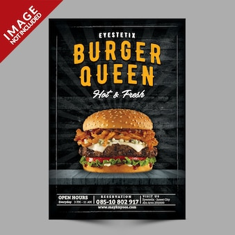 Burger flyer mockup