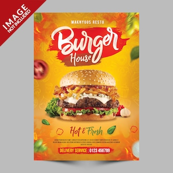Burger house poster sjabloon