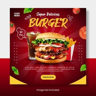Burger instagram-feedsjabloonbanner