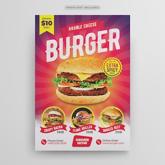 Burger restaurant flyer-sjabloon