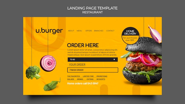 Burger restaurant websjabloon