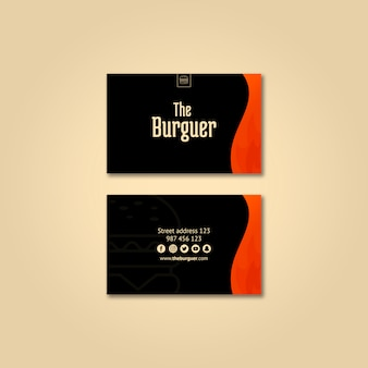 Burguer visitekaartje mockup
