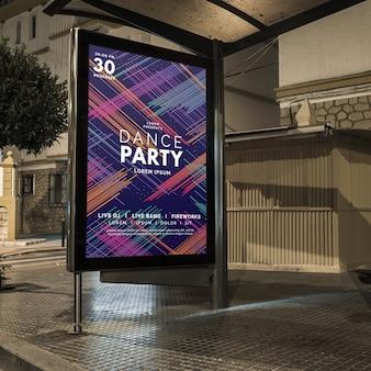 Bushalte billboard mockup