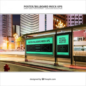 Bushalte billboards mockup