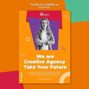 Business agency flyer-sjabloon