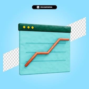 Business analytics 3d render illustratie geïsoleerd