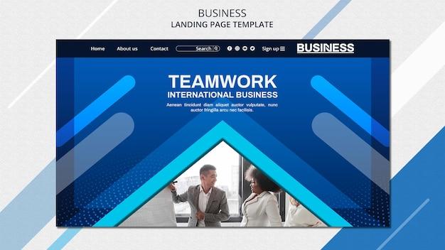 Business concept bestemmingspagina sjabloon