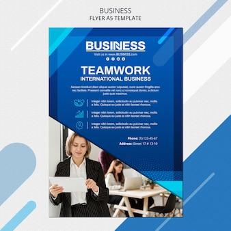 Business concept folder sjabloon