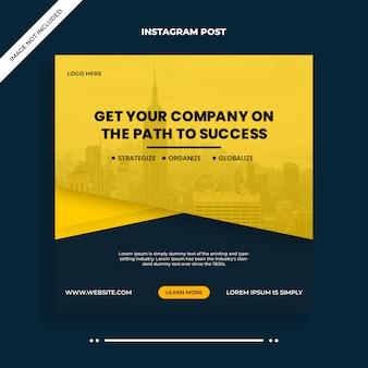 Business digitale marketing social media, instagram, banner web o modello di volantino quadrato