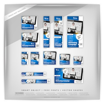 Business marketing google banner set