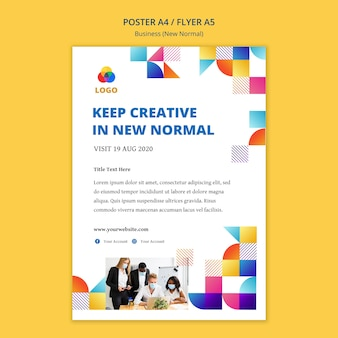 Business nuovo stile poster normale