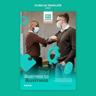 Business-to-business afdruksjabloon
