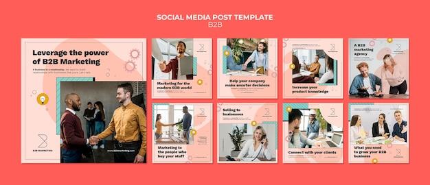 Business-to-business instagram-postsjablonen