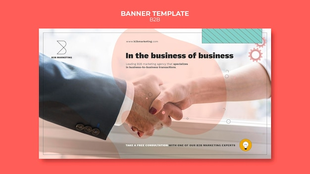 Business to business-sjabloon voor spandoek