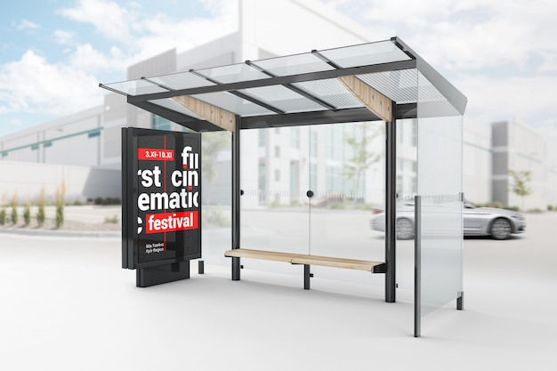 Busstop lightbox maqueta